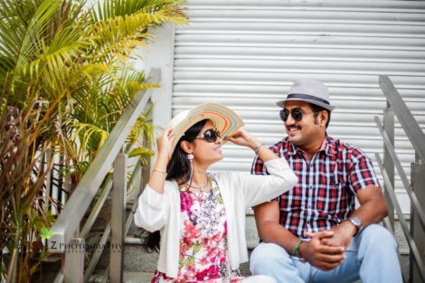 Vivek - Saranya Outdoor Photoshoot Pondicherry